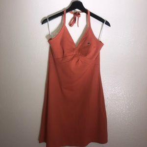 Orange Lacoste Halter Dress